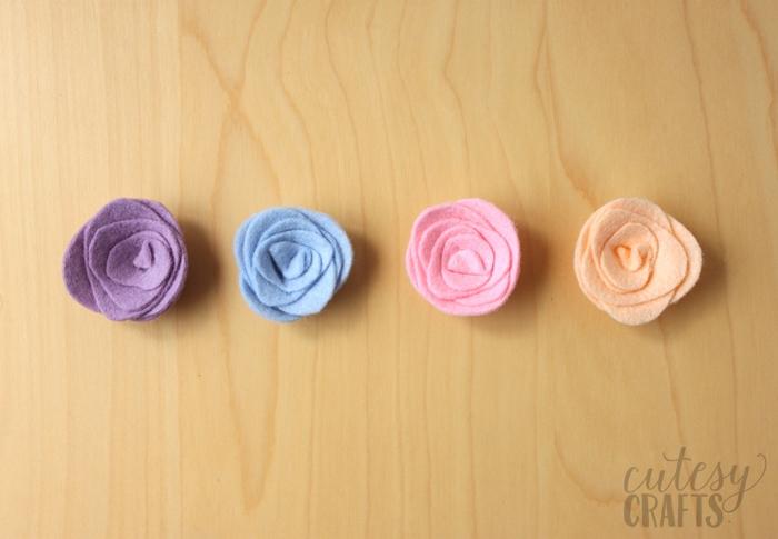 Felt Flower Magnets Tutorial