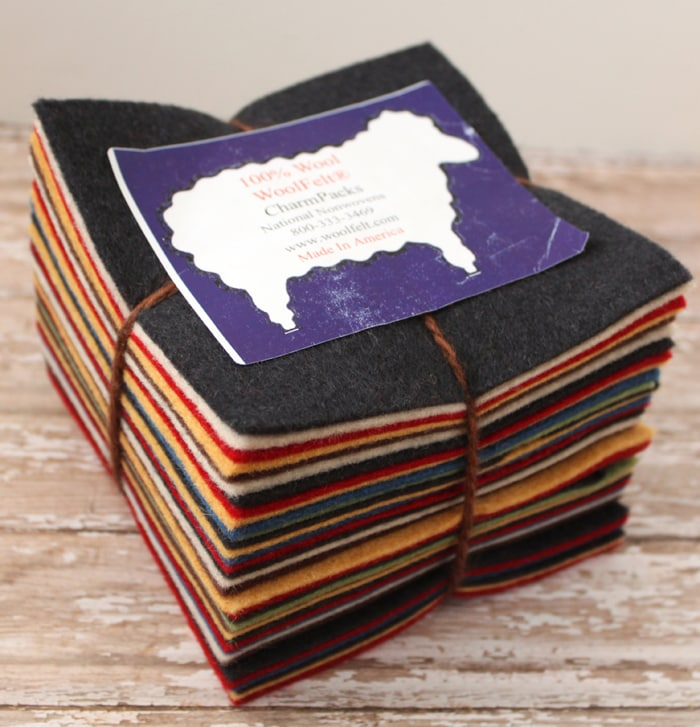 Wool Felt Charm Pack from National Nonwovens