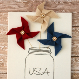 Felt Pinwheel 4th of July Decoration