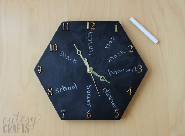 diy chalkboard clock cutesy crafts