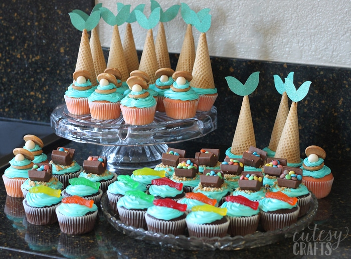 Mermaid Party Ideas - Cupcakes
