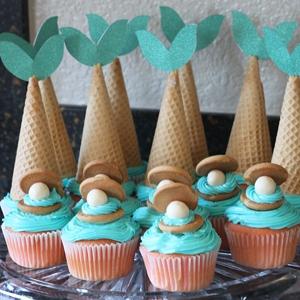 diy mermaid cupcakes cutesy crafts. Black Bedroom Furniture Sets. Home Design Ideas