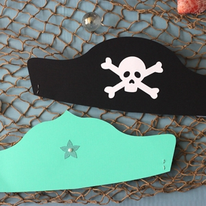 Mermaid Crown and Pirate Hat Printables (with Silhouette Cut Files)