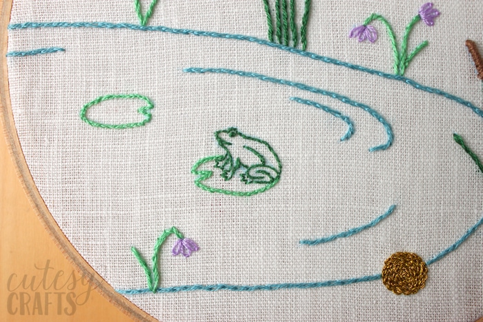 The Frog Prince Fairy Tale Hand Embroidery Pattern