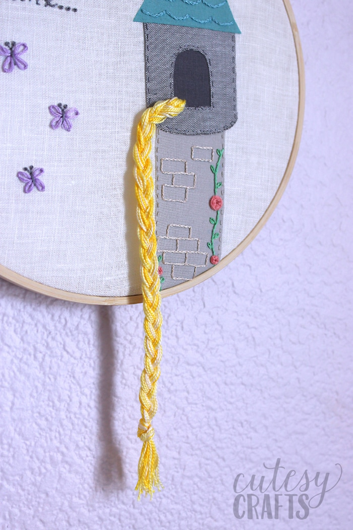 Rapunzel Fairy Tale Hand Embroidery Pattern
