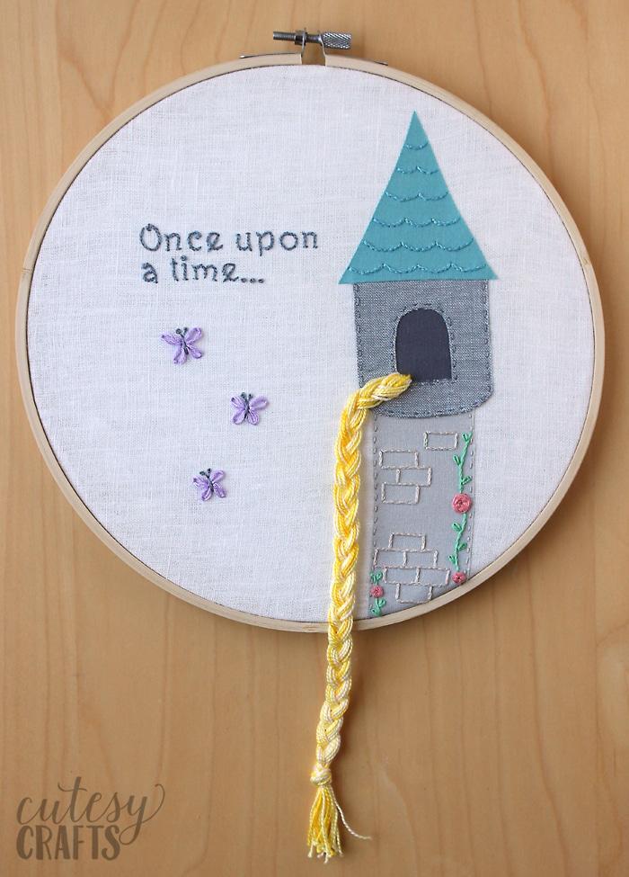 Rapunzel Fairy Tale Hand Embroidery Pattern
