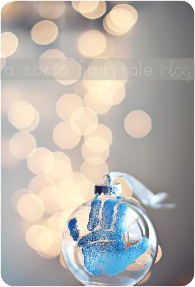 15 Fingerprint and Handprint Christmas Ornaments