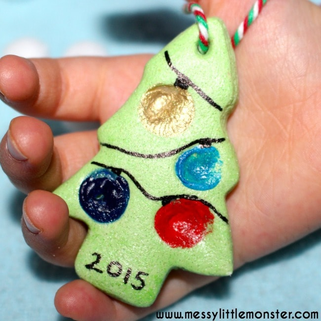 15 Fingerprint and Handprint Christmas Ornaments