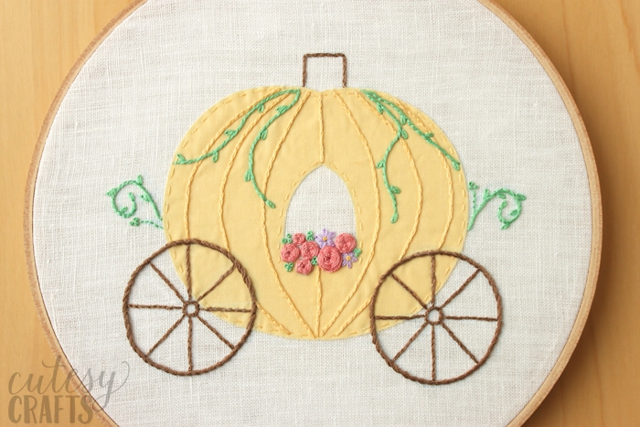 Cinderella Fairy Tale Hand Embroidery Pattern