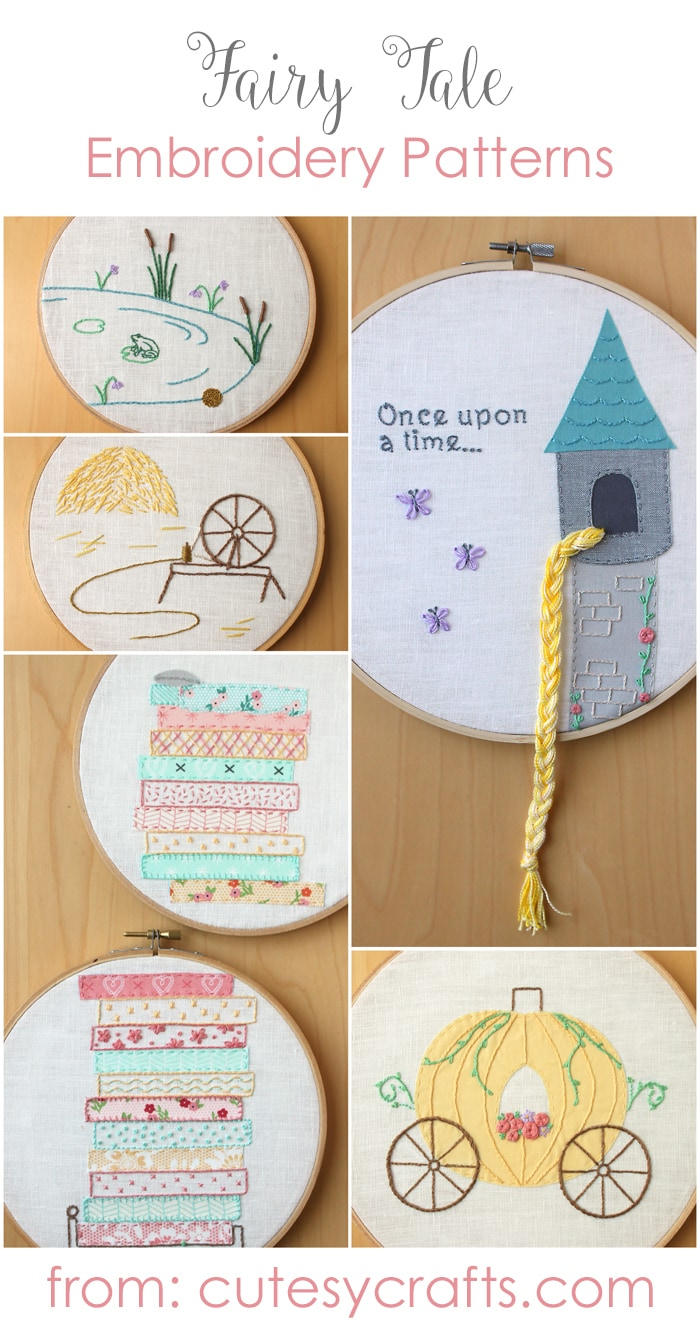 Free Fairy Tale Hand Embroidery Designs