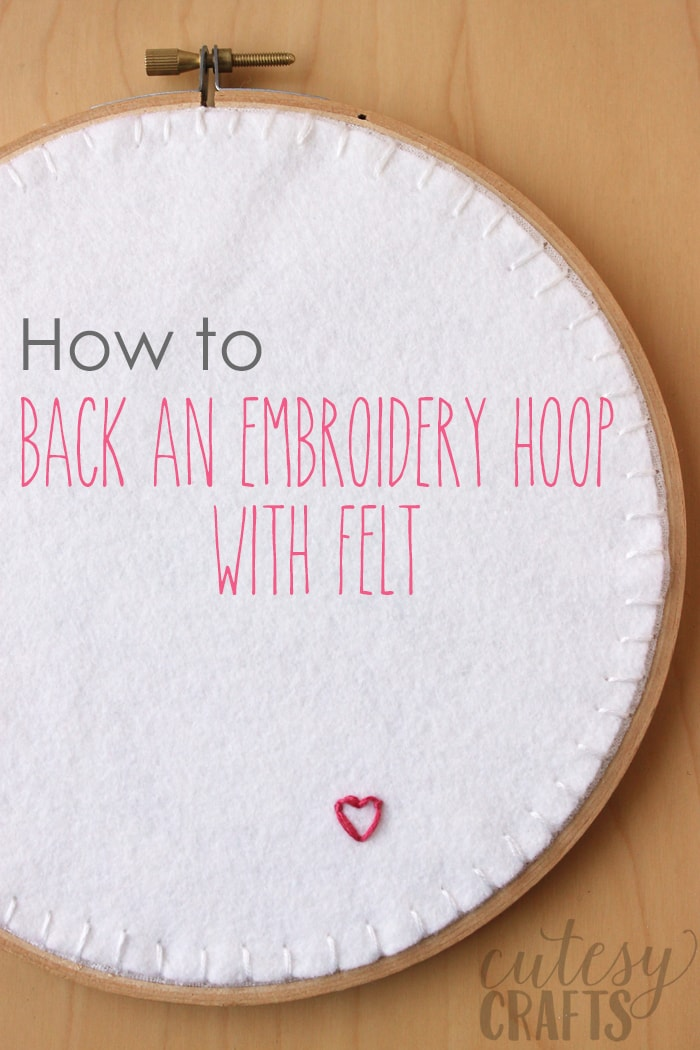 How to Back an Embroidery Hoop with Felt
