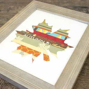 Easy Fall Craft – Scrapbook Paper Leaf