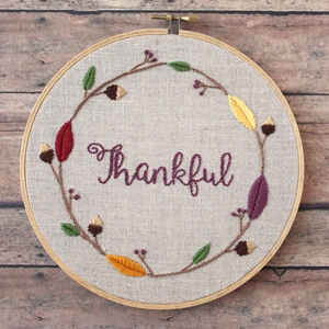 Free Thanksgiving Embroidery Pattern