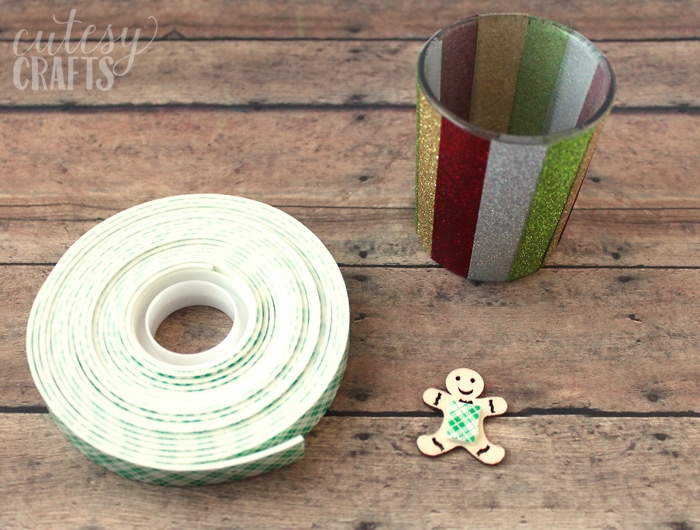 Glitter Tape Candle Holder Craft