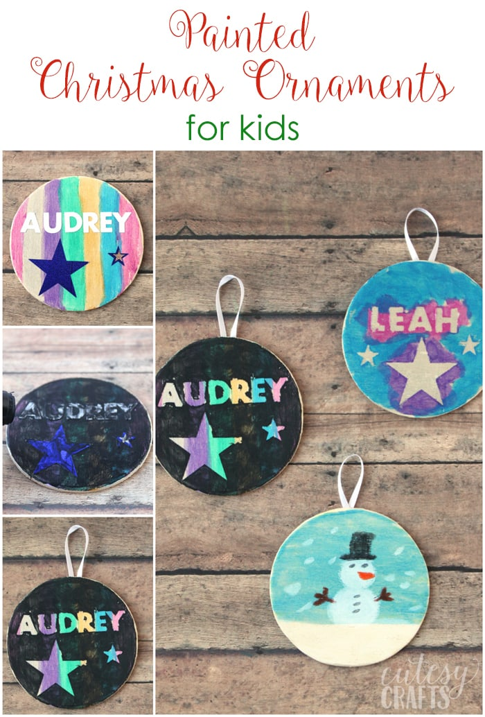 Painted Christmas Ornaments for Kids
