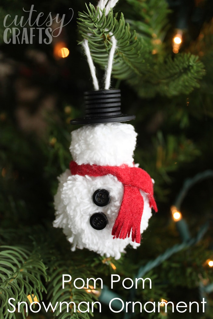 Pom Pom DIY Snowman Ornament