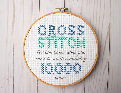 funny cross stitch