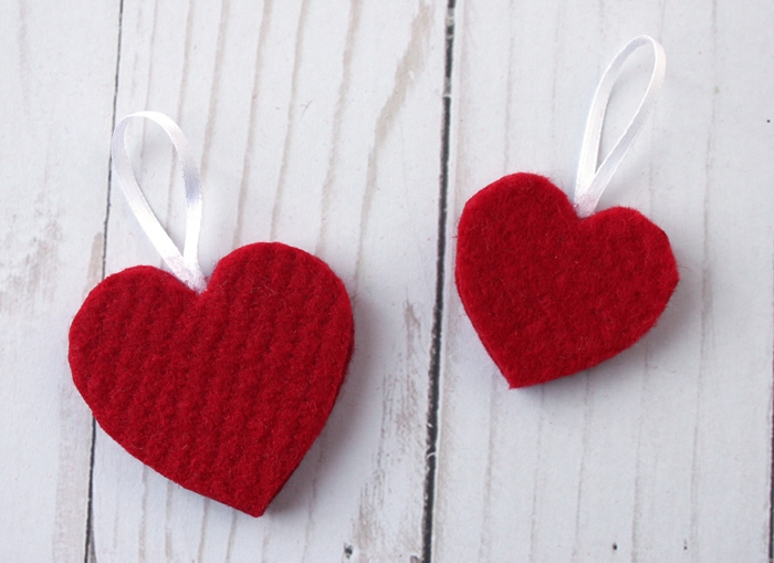Felt Heart Valentine Ornaments