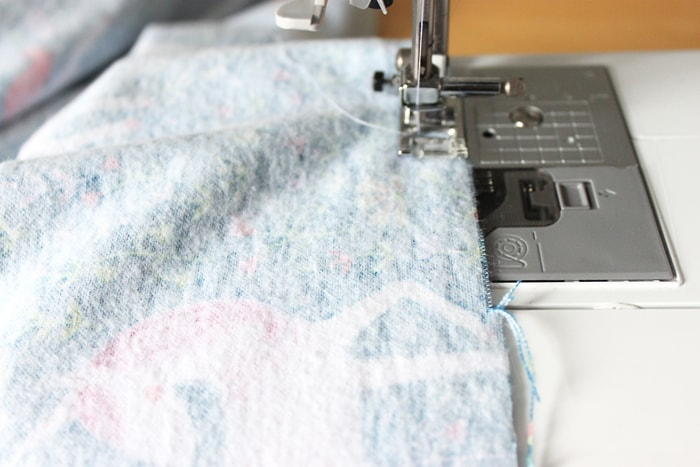 How to make a blanket for a baby out of flannel.