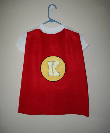 superhero cape on a shirt