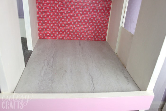 Doll House Makeover - Tile Flooring