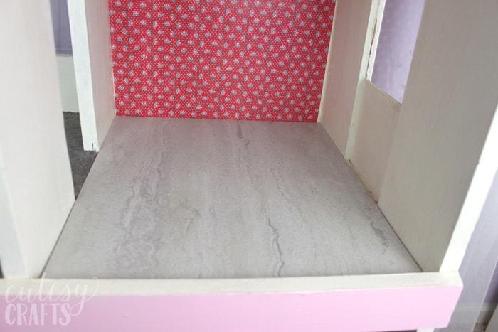 Doll House Makeover - Tile Flooring