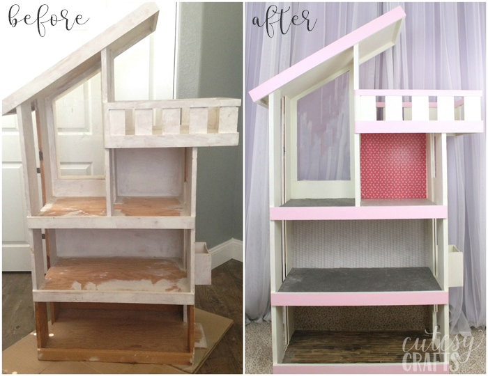 Doll House Makeover - Before and After