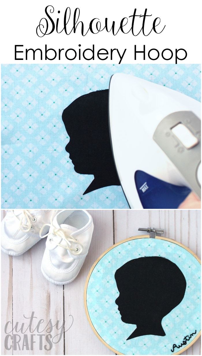 Silhouette Embroidery Hoop DIY Mother's Day Gift