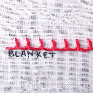 How to do a Blanket Stitch