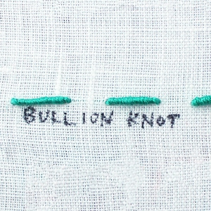 How to do a Bullion Knot