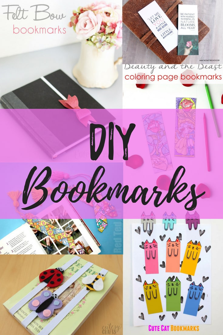 15 diy bookmarks - cutesy crafts