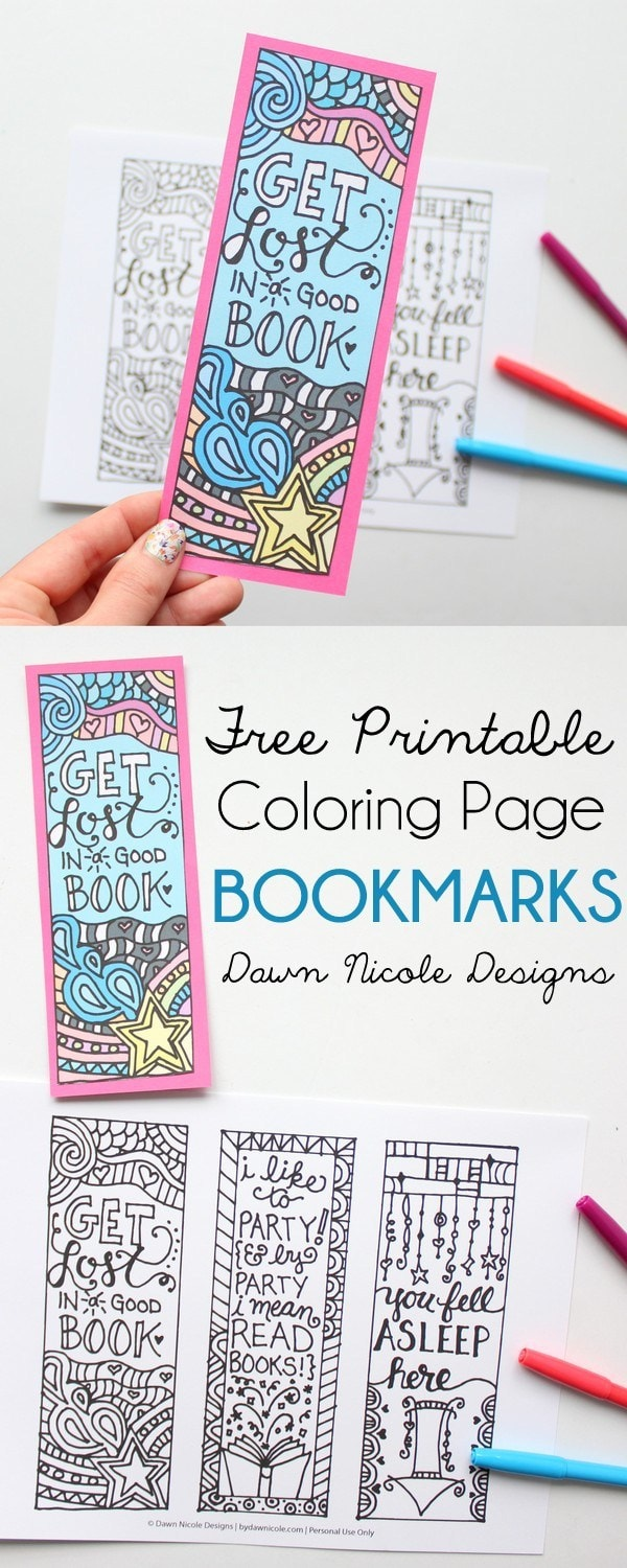 picture relating to Cute Bookmarks Printable called 15 Do it yourself Bookmarks - Cutesy Crafts