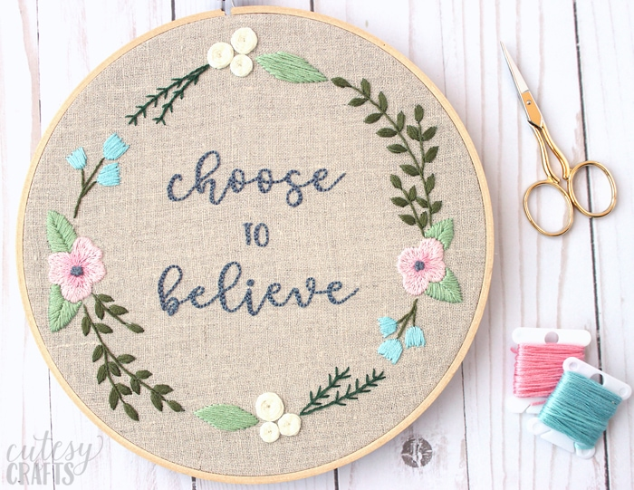 Choose to Believe - Free Embroidery Pattern