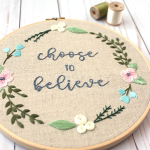 "Free Embroidery Design – ""Choose to Believe"""