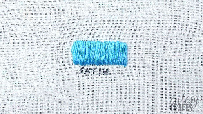 how to do a satin stitch