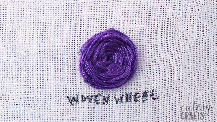 How to do a Woven Wheel Stitch