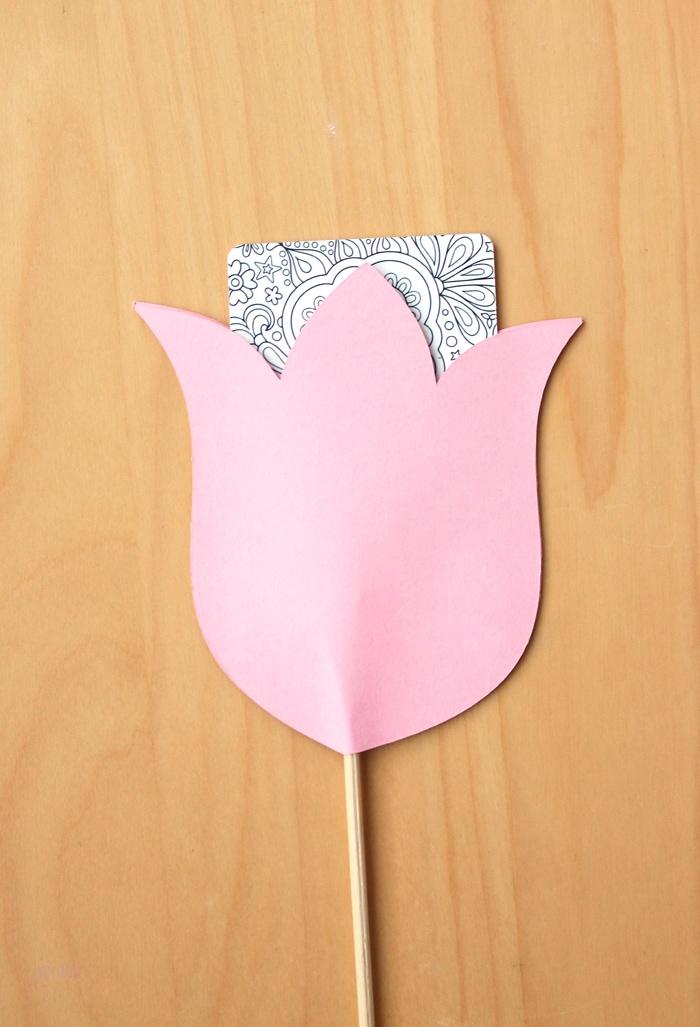 paper flower gift card holder