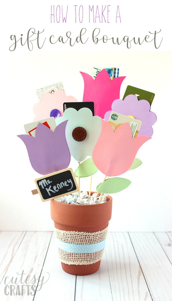 Gift Card Bouquet Tutorial Cutesy Crafts