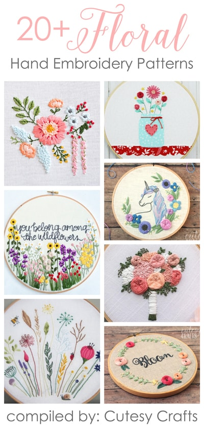 20+ Flower Embroidery Patterns