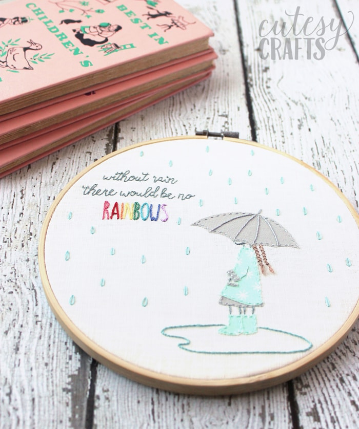 """Without Rain"" Free Hand Embroidery Design"
