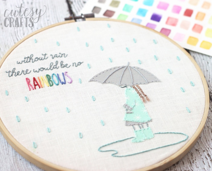 """Without Rain"" Free Hand Embroidery Pattern"