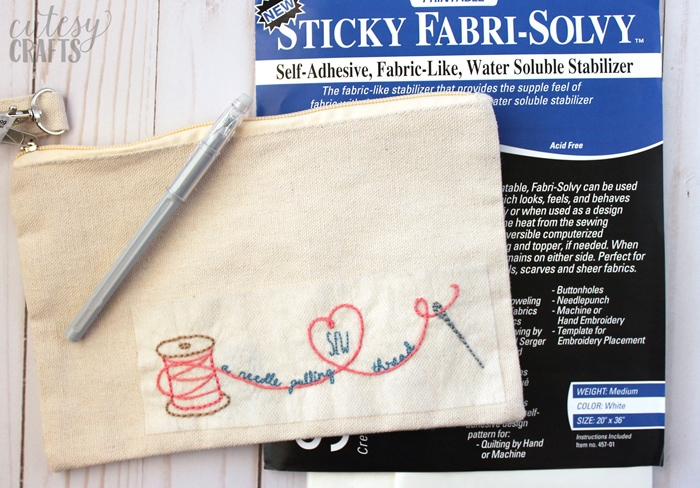 Fabri-Solvy Embroidery Transfer Method