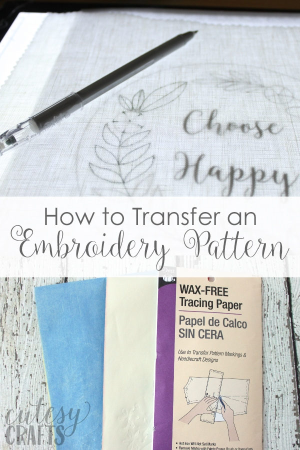 Embroidery Transfer - How to Transfer an Embroidery Pattern