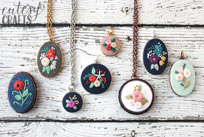 Free Embroidery Patterns - Necklaces