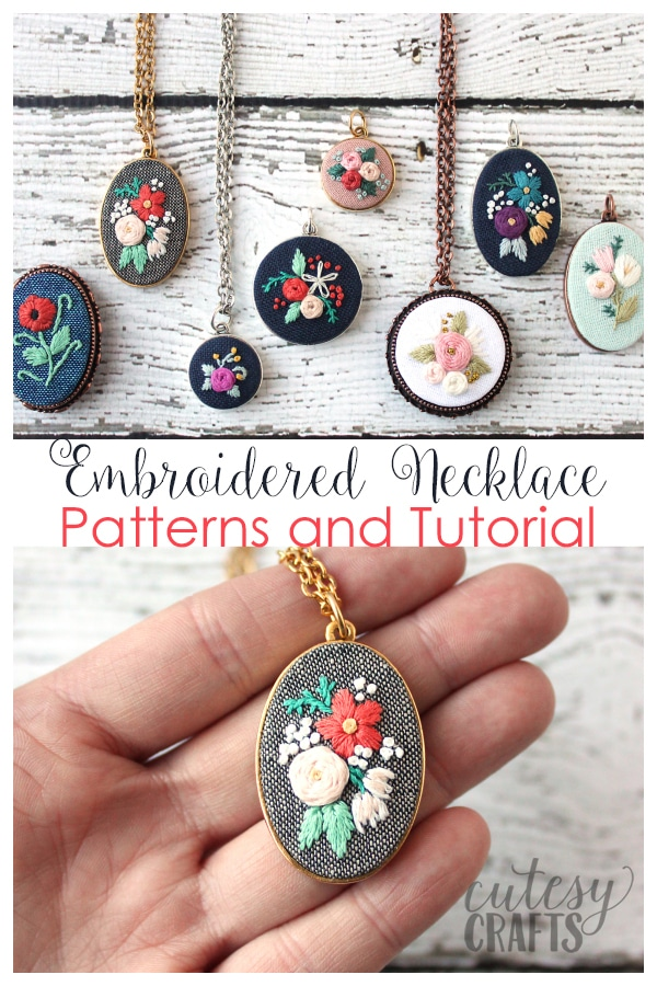 Free Hand Embroidery Necklace Patterns