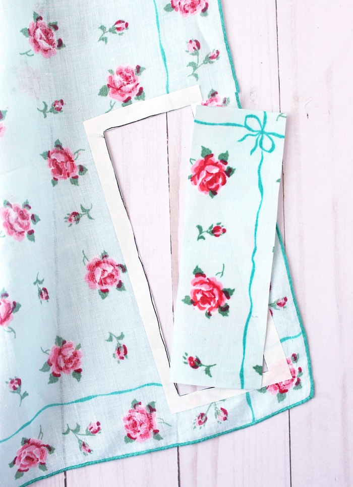 upcycle vintage handkerchief, vintage handkerchief project