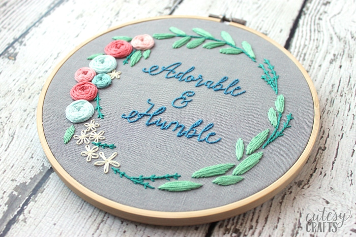 Floral Wreath Embroidery Pattern