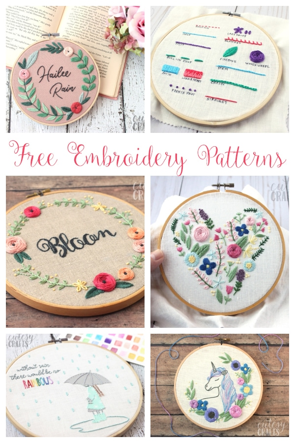 20+ Free Embroidery Patterns
