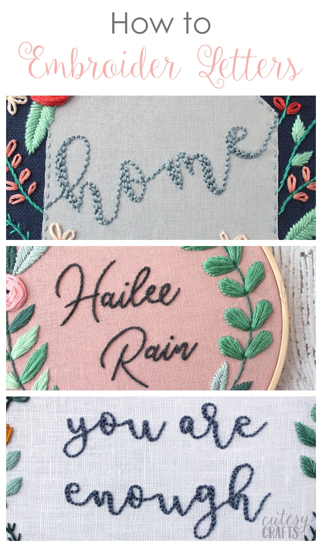 How to Embroider Letters by Hand - Step-by-Step video tutorials and free patterns!