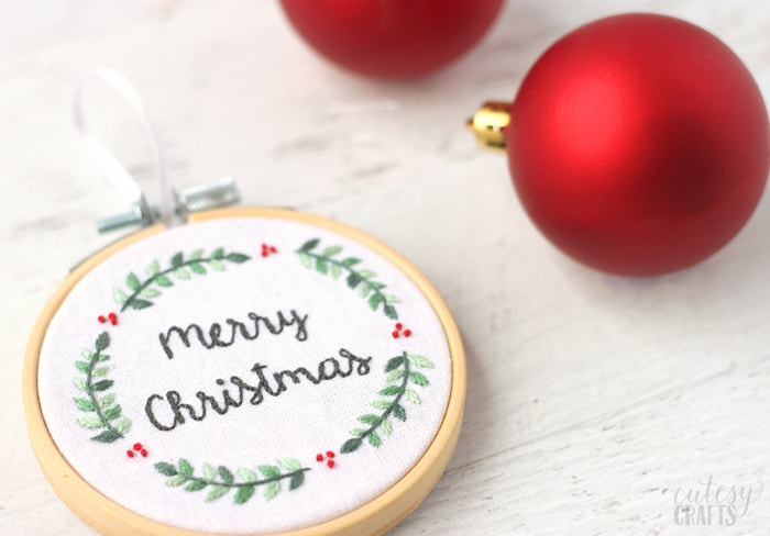 Christmas Embroidery Pattern Ornament